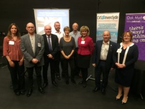 Presenters and speakers at the CVS Inverclyde Third Sector Conference