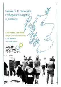 Cover of the Review of the First generation of Participatory Budgeting in Scotland
