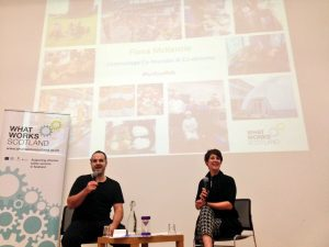 Oliver Escobar and Fiona McKenzie at the launch of the Centrestage report in January 2017