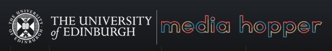 Logo of the University of Edinburgh Media Hopper video publishing service
