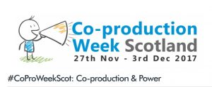 Logo for Co-Production Week Scotland 2017