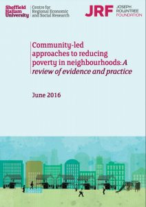 Cover of the Community-led approaches to reducing poverty report
