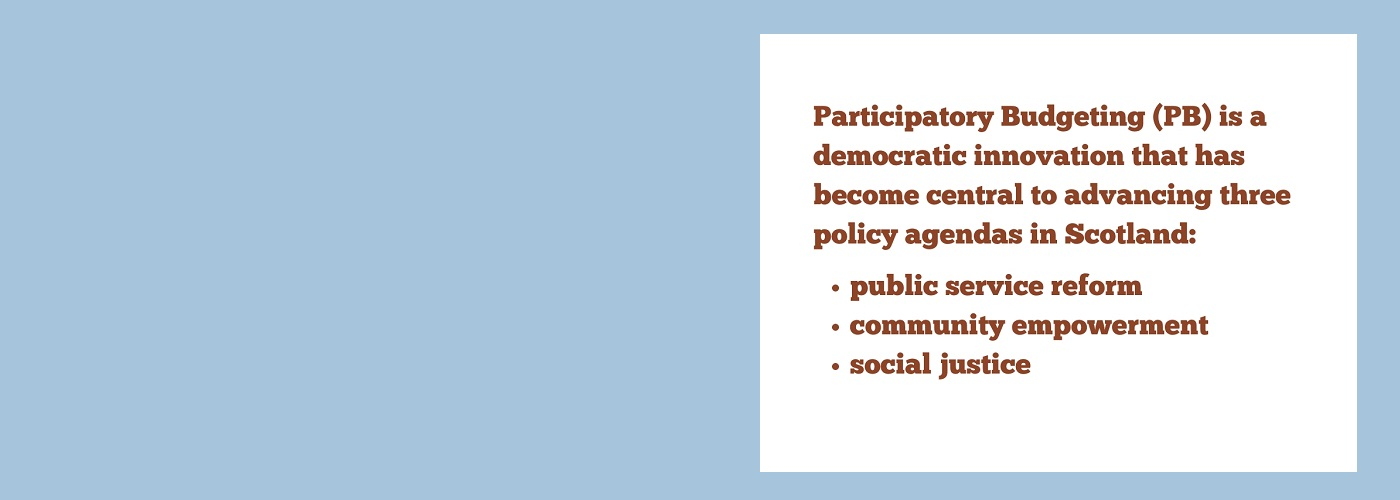 Mainstreaming participatory budgeting: What works in building foundations for a more participatory democracy?